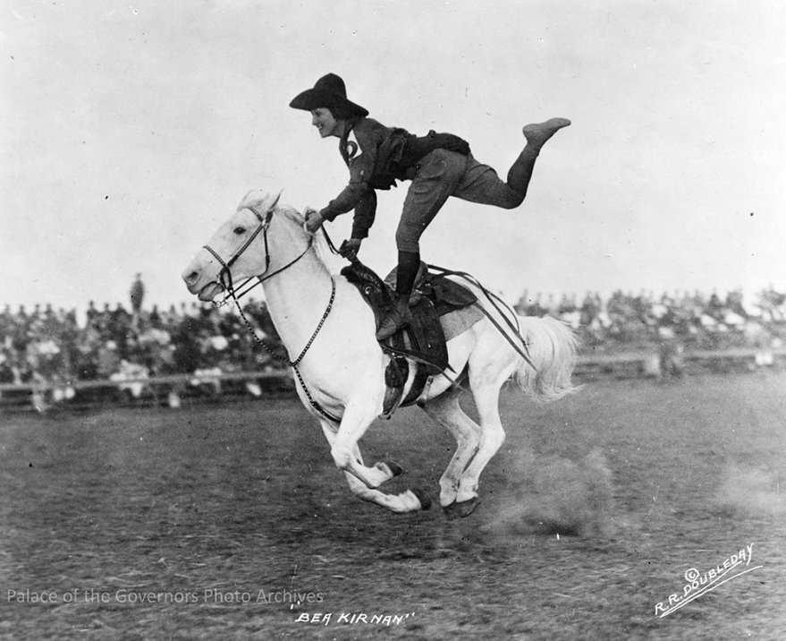 #rodeo bronc and trick rider Bea Kirnan, 1922-1935? Photographer- R.R. Doubleday From the Tex Austin collection (POG 200095)